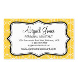 Graphic ovals yellow, black & white business card