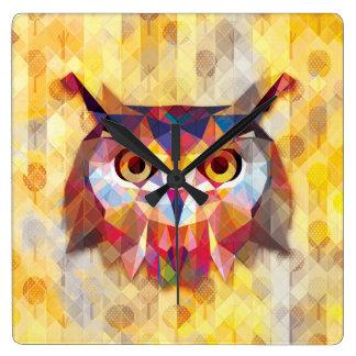 graphic owl wallclock