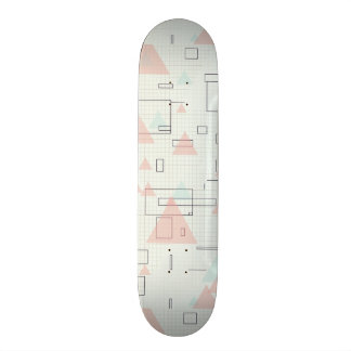 Graphic paper of rectangles and triangles Siradesi 21.6 Cm Skateboard Deck