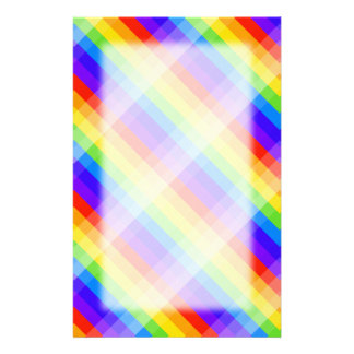 Graphic Pattern in Rainbow Colors. Stationery