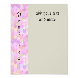 Graphic pattern,pink pastels,girly,trendy,modern, 11.5 cm x 14 cm flyer