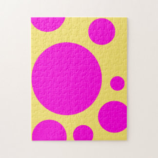 GRAPHIC PATTERN PINK POLKA DOT PUZZLE