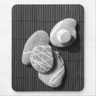 Graphic pebbles mouse mat