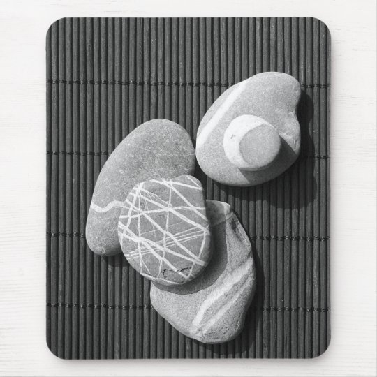 Graphic pebbles mouse mat