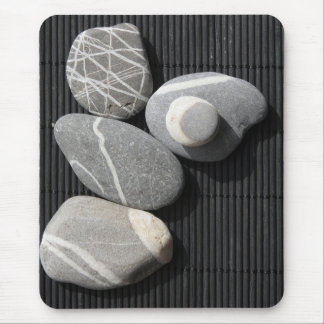 Graphic pebbles mouse pads
