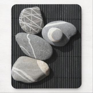Graphic pebbles mouse pads