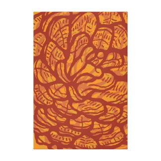 Graphic pinecones canvas print