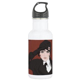 Graphic Portrait of WWII Woman 532 Ml Water Bottle