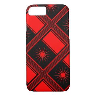 Graphic red & black stars & stripes phone case