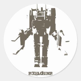 Graphic Robot Classic Round Sticker
