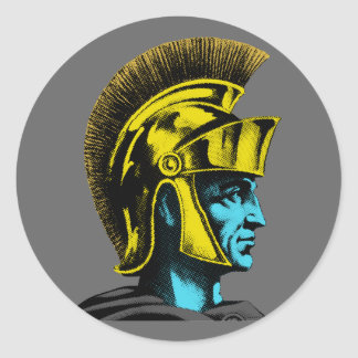 Graphic Roman Gladiator Round Sticker