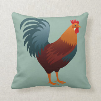Graphic Rooster Cushion