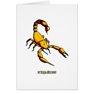 Graphic Scorpion Greeting Card