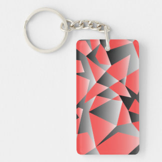Graphic Shattered Geometry Textured Keychain