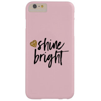 Graphic Shine Bright Text With Gold Diamond Barely There iPhone 6 Plus Case