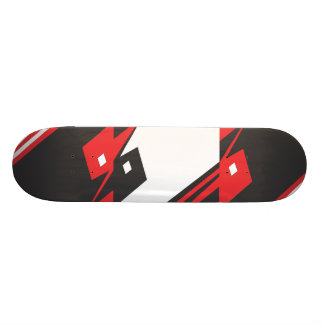 graphic Skateboard, red and black Skateboards