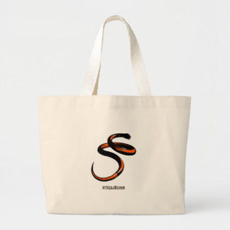 Graphic Snake Orange Tote Bags