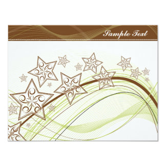 Graphic Stars Card 11 Cm X 14 Cm Invitation Card
