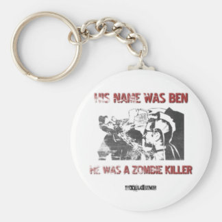 Graphic Stencil Zombie Killer Key Chain
