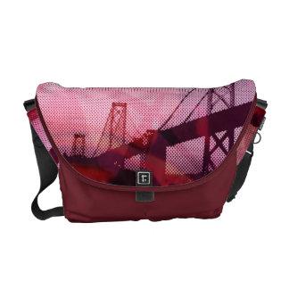 graphic stormed bridge courier bag