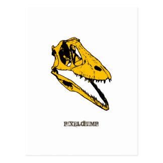 Graphic T-Rex Skull Post Card