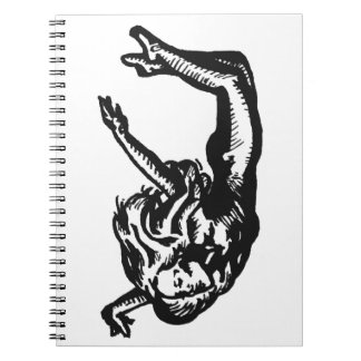 Graphic Tattoo Art of Dancer Woman Free Falling Notebook