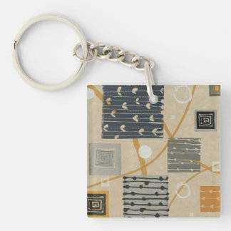 Graphic Tiles Square Acrylic Key Chains