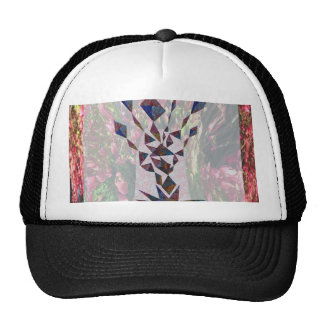 GRAPHIC TREE Patchwork of Papercut Art photography Mesh Hats