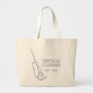 Graphic vacuum vintage cleaner cleaning bag