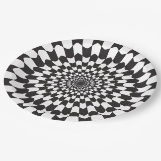 GRAPHIC WAVE PRINT PAPER PLATE