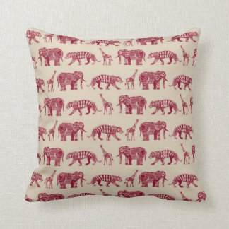 graphic zoo red cushion