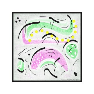 Graphical Artwork designed on Tablet Canvas Print