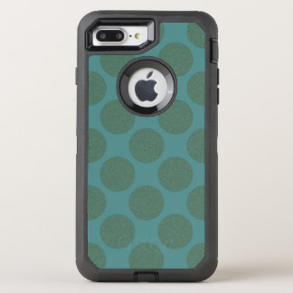 Graphical Diagonal Polka Dots any Color on Teal OtterBox Defender iPhone 8 Plus/7 Plus Case