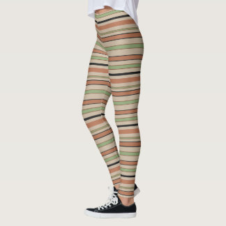 Graphical Horizontal Lines with Custom Color Leggings