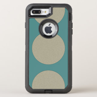 Graphical Huge Polka Dots any Color on Teal OtterBox Defender iPhone 8 Plus/7 Plus Case