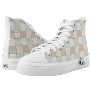 Graphical Tiles Woven Soft Colors Printed Shoes