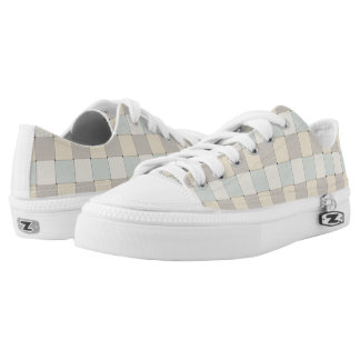 Graphical Tiles Woven Soft Peach Colors Printed Shoes