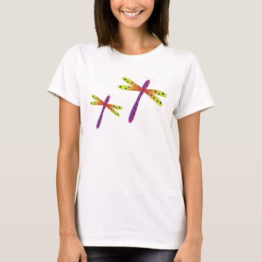 Graphically bedazzled dragonfly cross t-shirt