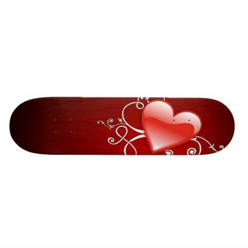 Graphics of St. Valentine's day - Skateboard