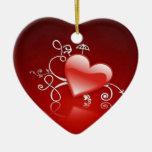 Graphisme de Saint-Valentin - Ceramic Heart Decoration