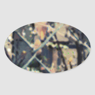 Graphite Abstract Antique Junk Style Fashion Art S Oval Sticker
