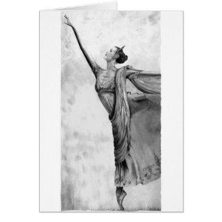 Graphite Ballerina Dancer Ballet Greeting Card