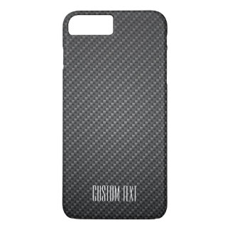 Graphite Fiber Texture with custom text iPhone 7 Plus Case