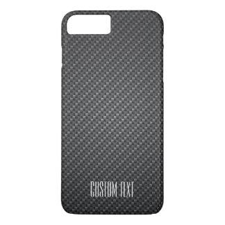Graphite Fiber Texture with custom text iPhone 8 Plus/7 Plus Case