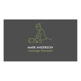Graphite Grey Massage Therapy Masseuse Spa Pack Of Standard Business Cards
