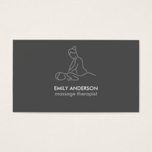 Massage therapy business cards business card printing zazzle uk graphite grey massage therapy masseuse spa business card colourmoves