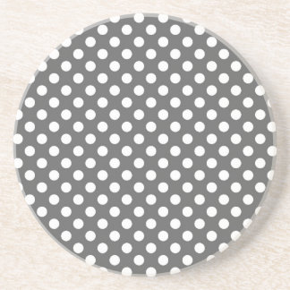 Graphite Grey Polka Dot Coasters