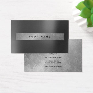 Graphite Metallic Gray Graphite Grungy Monochrom Business Card
