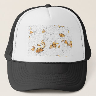 graphite pencil shavings trucker hat