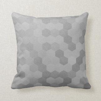 Graphite Silver Gray Geometry Honeycumb IT- DESIGN Throw Pillow